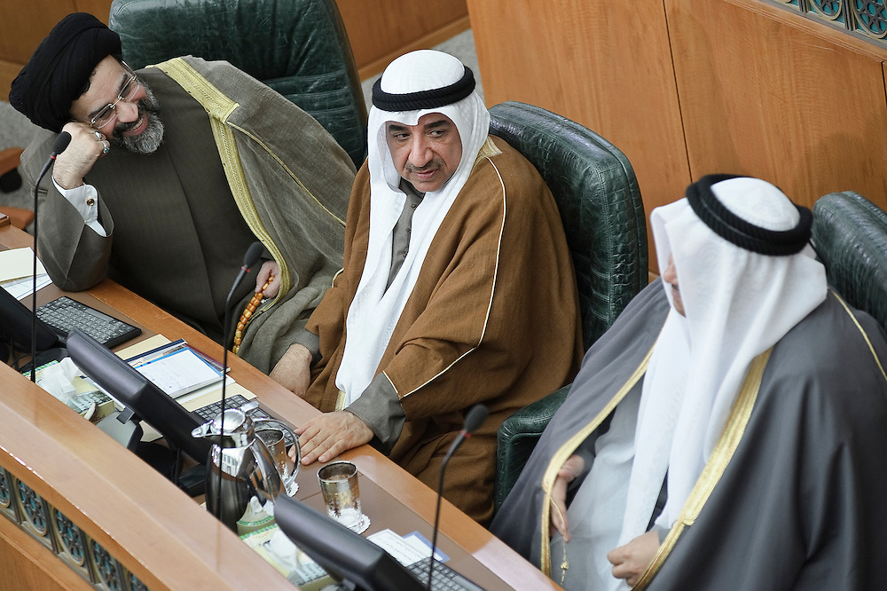 Some MPs during the state opening of parliament's 14th legislative term's first session presided over by HH the Emir Sheikh Sabah Al-Ahmad Al-Sabah Feb 15, 2012. Kuwaitis voted Feb. 2 for a new 50-member parliament (National Assembly).