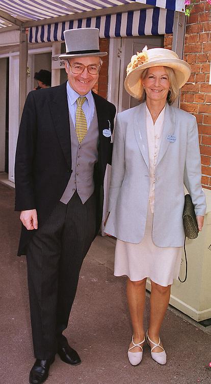 MR & MRS MICHAEL HOWARD MP, at Royal Ascot on 16th June 1999.MTH 43