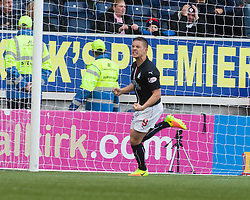 Falkirk's John Baird cele scoring their first goal. Falkirk v Raith Rovers. Scottish Championship game played 22/10/2016 at The Falkirk Stadium.