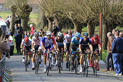 The tail end group on the 2nd ascent of the Kemmelberg during the 2019 Gent-Wevelgem in Flanders Fields running 252km from Deinze to Wevelgem, Belgium. 31st March 2019.<br /> Picture: Eoin Clarke | Cyclefile<br /> <br /> All photos usage must carry mandatory copyright credit (&copy; Cyclefile | Eoin Clarke)