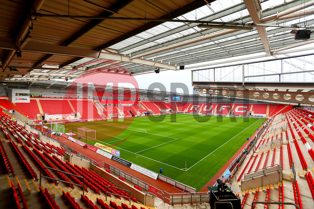 A general view of the Aesseal New York Stadium, home to Rotherham United - Mandatory by-line: Ryan Crockett/JMP - 24/11/2018 - FOOTBALL - Aesseal New York Stadium - Rotherham, England - Rotherham United v Sheffield United - Sky Bet Championship