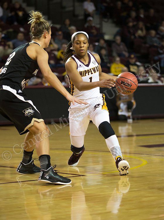 Women's basketball victory over Western Michigan in McGuirk Arena at Central Michigan University on 1/27/2016.  Photo by Steve Jessmore/Central Michigan University