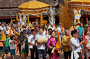 Laos, Vientiane. Buddhist ceremony. at Wat Si Saket.