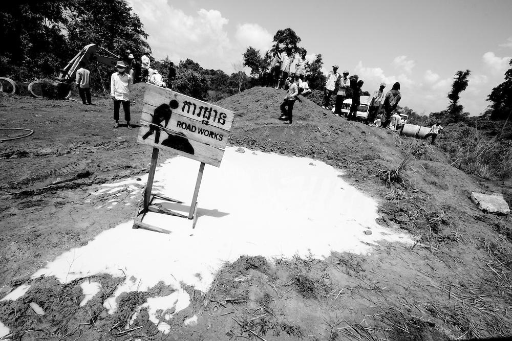 Road work in Mondulkiri Province, Cambodia
