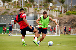 Joe Bryan of Bristol City takes on Zak Vyner - Mandatory by-line: Matt McNulty/JMP - 21/07/2017 - FOOTBALL - Tenerife Top Training Centre - Costa Adeje, Tenerife - Pre-Season Training