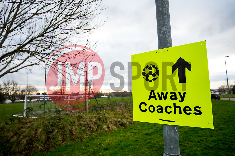 Directions for away coaches - Rogan/JMP - 26/01/2018 - FOOTBALL - Huish Park - Yeovil, England - Yeovil Town v Manchester United - FA Cup Fourth Round.