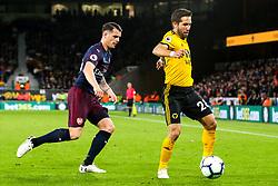 Joao Moutinho of Wolverhampton Wanderers takes on Granit Xhaka of Arsenal  - Mandatory by-line: Robbie Stephenson/JMP - 24/04/2019 - FOOTBALL - Molineux - Wolverhampton, England - Wolverhampton Wanderers v Arsenal - Premier League