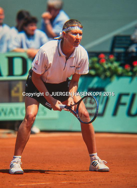 Steffi Graf (GER), Roland Garros, French Open 1996<br /> <br /> Tennis - French Open 1996 - Grand Slam ATP / WTA -  Roland Garros - Paris -  - France  - 6 December 2016.