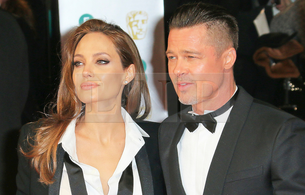 © Licensed to London News Pictures. 16/02/2014, UK. Angelina Jolie; Brad Pitt, British Academy Film Awards - BAFTAS, Royal Opera House, London UK, 16 February 2014. Photo credit : Richard Goldschmidt/Piqtured/LNP