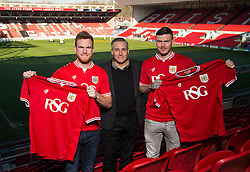 Bristol City loan Signing's , Ben Gladwin and Alex Pearce with Bristol City interim manager John Pemberton    - Mandatory byline: Joe Meredith/JMP - 19/01/2016 - FOOTBALL - Ashton Gate - Bristol, England - Bristol City