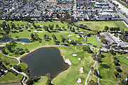 Aerial Stock Photo of Santa Ana Country Club Orange County