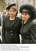 Ivana Lowell and  Evgenia  Sands. Maureen, Marchioness of Dufferin & Ava memorial service. St. Margaret's. Westminster. London. 15/7/98. Film 98523f35<br />