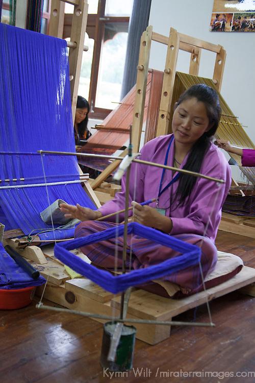 Asia, Bhutan, Thimpu. Bhutanese Textile Weaver.