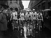 Cycling - Rás Tailteann - 8 Day Cycle Race Around Ireland<br /> 01/08/1954  01/08/1954<br /> 08/01/1954<br /> 01 August 1954<br />  <br /> Cycling - Rás Tailteann - 8 Day Cycle Race Around Ireland