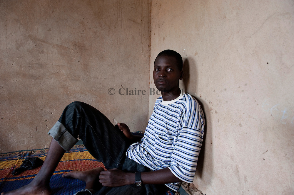 Ousman, a young migrant from Mali in the ghetto