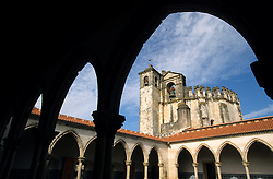 Europe, Portugal, Tomar. Convento de Cristo (16th century), viewed through arch