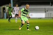 Forest Green Rovers Marcus Kelly(10) on the ball during the Friendly match between Weston Super Mare and Forest Green Rovers at the Woodspring Stadium, Weston Super Mare, United Kingdom on 11 October 2016. Photo by Shane Healey.