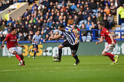 Atdhe Nuhiu of Sheffield Wednesday on the attack during the EFL Sky Bet Championship match between Sheffield Wednesday and Bristol City at Hillsborough, Sheffield, England on 22 December 2019.