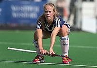 AMSTELVEEN - HOCKEY - Bo Peijs van Pinoke  tijdens de eerste competitiewedstrijd van het nieuwe seizoen tussen de vrouwen van Pinoke en Bloemendaal. COPYRIGHT KOEN SUYK