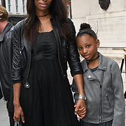 Betsie Dsane is a model and her daughter attend Fashion Scout - SS19 - London Fashion Week - Day 2, London, UK. 15 September 2018.