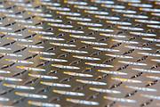 reflections on metal  diamond plate