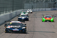 Alasdair McCaig (GBR) / Rob Bell (GBR)  #79 Black Bull Ecurie Ecosse  McLaren 650S GT3  McLaren 3.8L Turbo V8 British GT Championship at Rockingham, Corby, Northamptonshire, United Kingdom. May 01 2016. World Copyright Peter Taylor/PSP.
