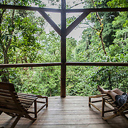 Stunning view from the terrace of one of the tree houses of Finca Bellavista