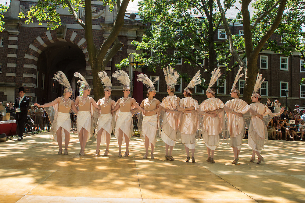 Women dance in the Dreamland Follies, a troupe that harkens to the era of Ziegfeld.