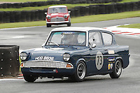 HSCC Gold Cup Oulton Park, Cheshire, United Kingdom.  28th-29th August 2011.  Race 11 HSCC ByBox Historic Touring Cars.  73 Robyn Slater - Ford Anglia 105E.  World Copyright: Peter Taylor/PSP. Copy of publication required for printed pictures. Every used picture is fee-liable.