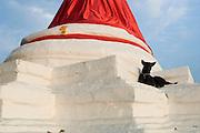 Stupa on Koh Kred Island. Stupa of Wat Poramaiyikawat.