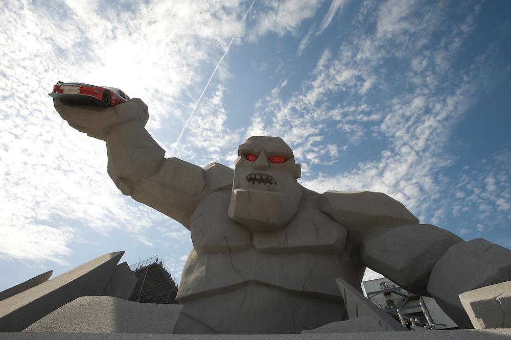 Sculpture at Nascar Race at Dover Speedway