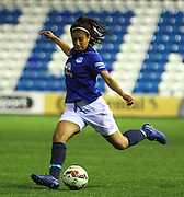 Gabby George, Everton Ladies during the Women's FA Cup fourth round match between Everton Ladies and Bristol Academy ladies at the Select Securities Stadium, Widnes, United Kingdom on 24 March 2015. Photo by Andrew Morfett.