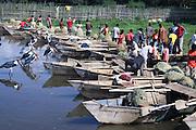 Fishermen of the Alaba tribe. Ethiopia