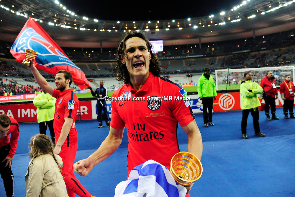 Victoire du PSG / Edinson CAVANI  - 11.04.2015 -  Bastia / PSG - Finale de la Coupe de la Ligue 2015<br />Photo : Dave Winter / Icon Sport