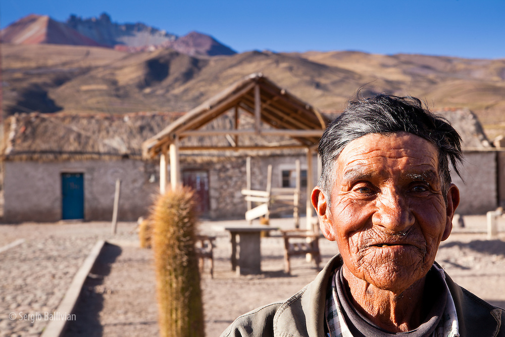 The gate-keeper to the ancient mummies in the caves above the village of Coquesa, above the Salar de Uyuni in Bolivia's Altiplano.