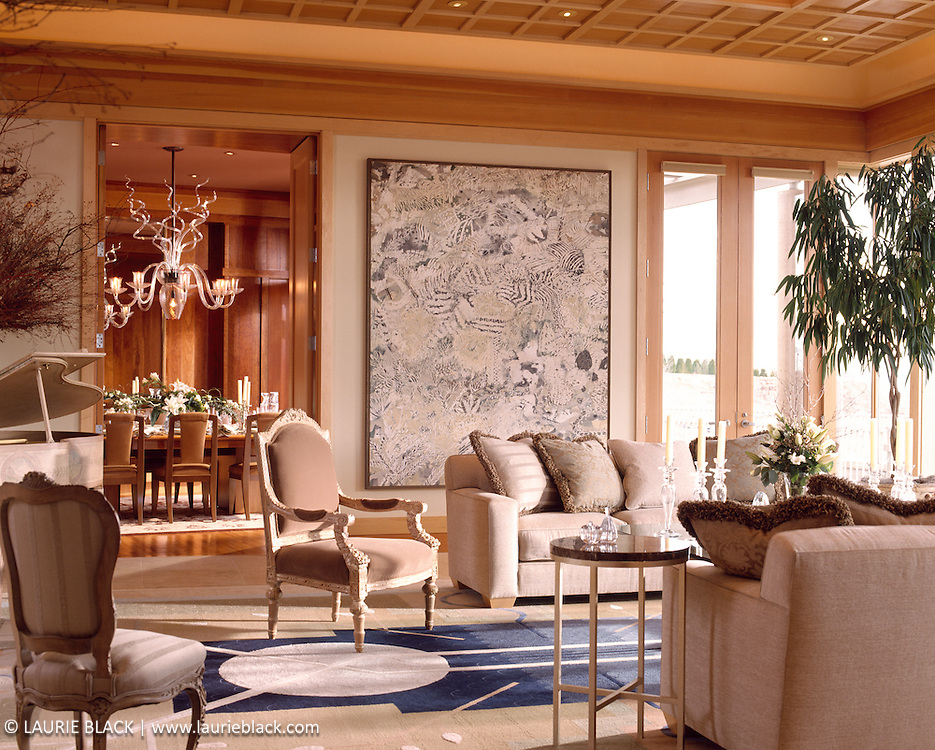 Elegant living room and dining room