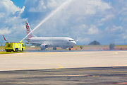 Arrival of Virgin Australias Innaugural Sydney Daily Service. Darwin Airport 2 April 2012. Photo Shane Eecen