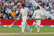 Steve Smith of Australia running between the wickets during the International Test Match 2019 match between England and Australia at Edgbaston, Birmingham, United Kingdom on 3 August 2019.
