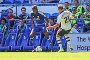 Sammy Ameobi makes his home debut for Cardiff City  during the Sky Bet Championship match between Cardiff City and Fulham at the Cardiff City Stadium, Cardiff, Wales on 8 August 2015. Photo by Shane Healey.