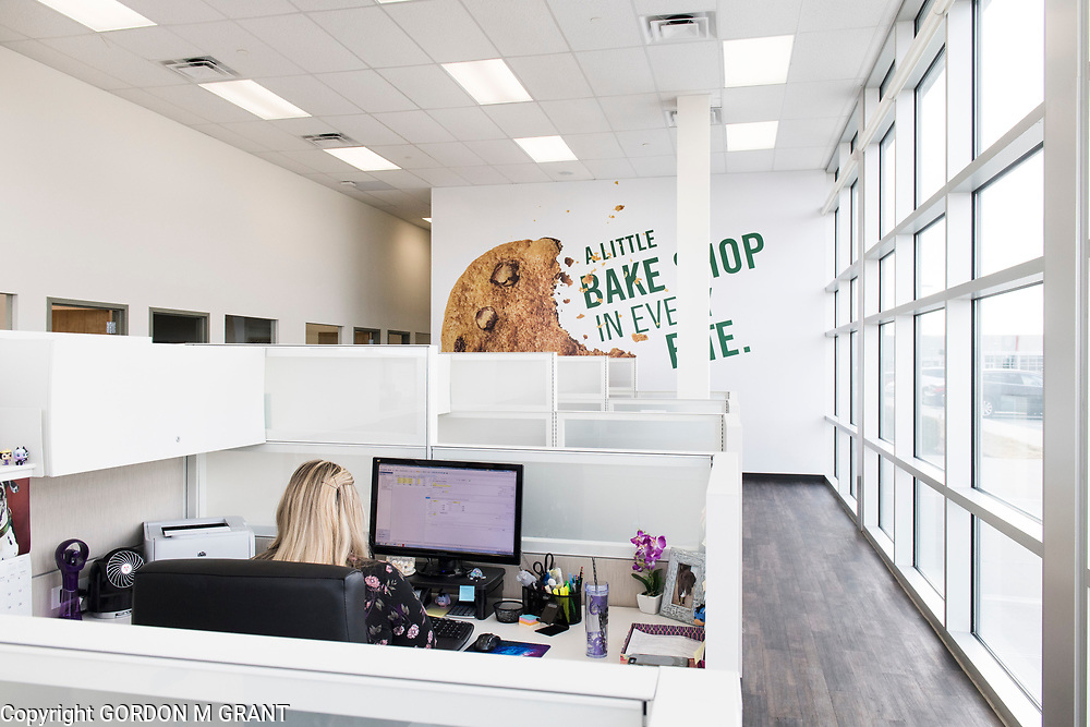 Office area at the Tate's Bake Shop distribution center at the Hampton Business District at Gabreski Airport in Westhampton, Jan. 16, 2018. Tate's Bake Shop is expanding it's distribution facility into a newly constructed building at the site.