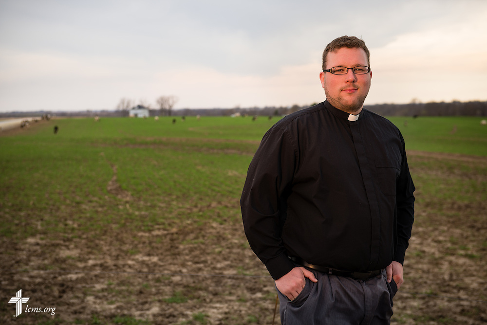 A portrait of the Rev. Patrick Niles, associate pastor at St. Paul's Lutheran Church, outside Concordia, Mo., on Thursday, April 10, 2014. LCMS Communications/Erik M. Lunsford