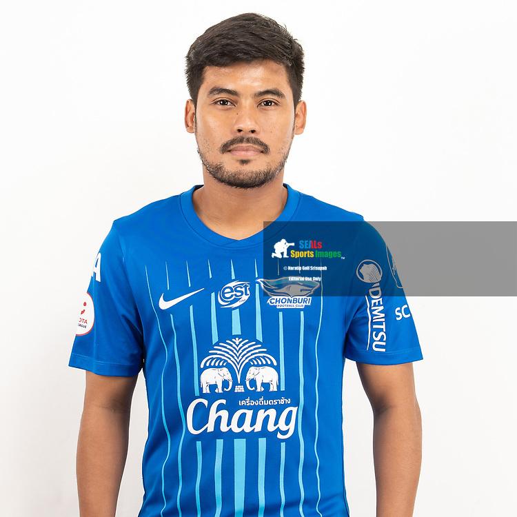 THAILAND - JUNE 11: Kroekrit Thawikan #10 of Chon Buri FC on June 11, 2019.<br /> .<br /> .<br /> .<br /> (Photo by: Naratip Golf Srisupab/SEALs Sports Images/MB Media Solutions)