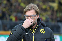 01.03.2014, Signal Iduna Park, Dortmund, GER, 1. FBL, Borussia Dortmund vs 1. FC Nuernberg, 23. Runde, im Bild Trainer Juergen Klopp (Borussia Dortmund) fasst sich enttaeuscht an die eigene ase // during the German Bundesliga 23th round match between Borussia Dortmund and 1. FC Nuernberg at the Signal Iduna Park in Dortmund, Germany on 2014/03/01. EXPA Pictures © 2014, PhotoCredit: EXPA/ Eibner-Pressefoto/ Schueler<br /> <br /> *****ATTENTION - OUT of GER*****