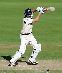 Middlesex's Neil Dexter cuts the ball - Photo mandatory by-line: Harry Trump/JMP - Mobile: 07966 386802 - 29/04/15 - SPORT - CRICKET - LVCC Division One - County Championship - Somerset v Middlesex - Day 4 - The County Ground, Taunton, England.