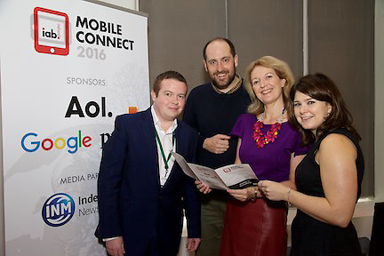 David Murphy, Head of Digital Solutions, The Irish Times.<br /> Hugh Curran, Head of Digital and Social, Atomic<br /> Suzanne McElligott, CEO, IAB Ireland.<br /> Marie Davis, Head of Google Marketing Solutions.