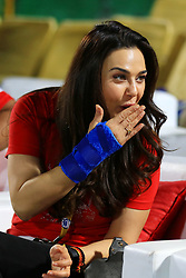 May 8, 2018 - Jaipur, India - Kings XI Punjab co-owner & Bollywood actress Preity Zinta during the IPL T20 match against Rajasthan Royals at Sawai Mansingh Stadium in Jaipur,Rajasthan,India on 8th May,2018.(Photo By Vishal Bhatnagar/NurPhoto) (Credit Image: © Vishal Bhatnagar/NurPhoto via ZUMA Press)