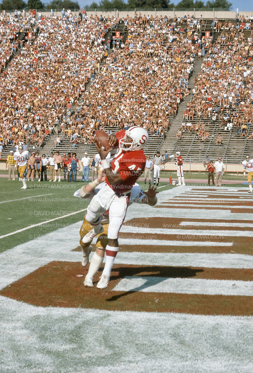 COLLEGE FOOTBALL:  Stanford v USC, November 4, 1978 at Stanford Stadium in Palo Alto, California.  Gordon Banks #45 Stanford.
