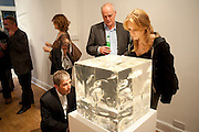 LUKE WALTON; CHARLES DOWSON; ( FATHER OF) CELIA DOWSON, Relics of the Mind.- Private view of work by Katharine Dowson. GV Art, 49 Chiltern st. London. W1. 16 September 2010. -DO NOT ARCHIVE-© Copyright Photograph by Dafydd Jones. 248 Clapham Rd. London SW9 0PZ. Tel 0207 820 0771. www.dafjones.com.