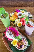 Be Buah Naga, Happy Fruits Salad, Power and Berryripe Smoothie.
