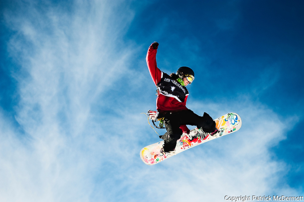 Sammie M. Hahn of the United States competes in the U.S. Snowboarding Grand Prix Slopestyle Qualifier in Mammoth Lakes, Calif., on Jan. 7, 2010.
